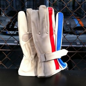 Stripe Gloves nahkahanskat koko L